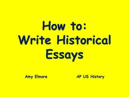 How to write essays better